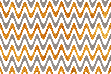 acryl: Watercolor gray and acryl golden stripes background, chevron.