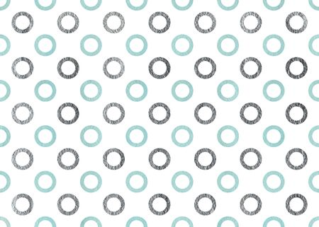 wallpaper dot: Watercolor blue and acryl silver circles on white background.