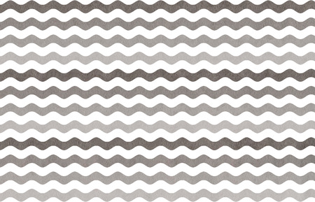 striped background: Watercolor gray wavy striped pattern. Gray gradient pattern. Stock Photo