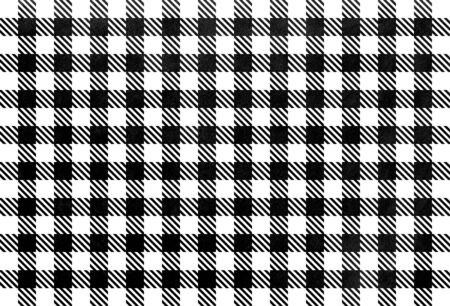 Watercolor black checked pattern. Geometrical traditional ornament for fashion textile, cloth, backgrounds.