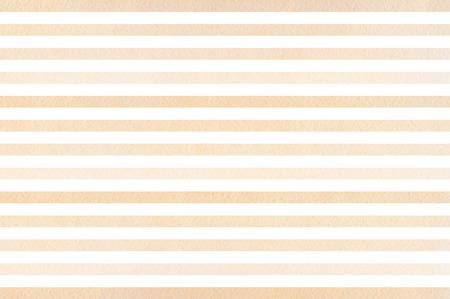 Watercolor beige striped background. Beige gradient pattern. Banco de Imagens