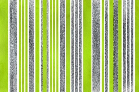 lime green: Watercolor lime green and acryl silver striped background.
