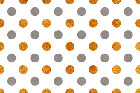 acryl: Watercolor gray and acryl golden polka dot background. Pattern with polka dots for scrapbooks, wedding, party or baby shower invitations.