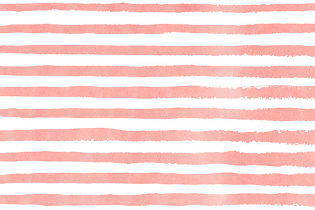 Watercolor light pink brush strokes on white background. Hand drawn grunge stripes pattern for fabric print, textile design, fashion. 스톡 콘텐츠