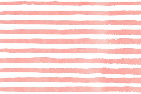 la luz de la acuarela pinceladas de color rosa sobre fondo blanco. dibujado a mano patrón de bandas grunge de impresión de la tela, diseño textil, la moda. Foto de archivo
