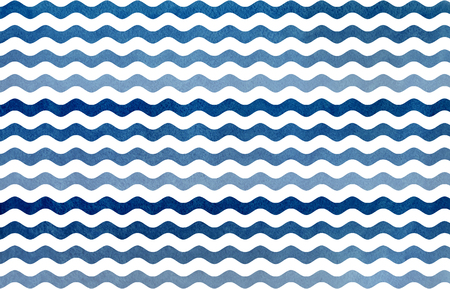 striped background: Watercolor dark blue wavy striped pattern. Blue gradient pattern.