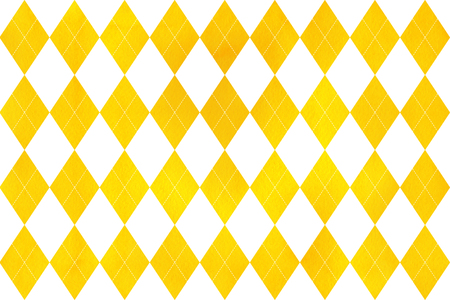 Watercolor yellow diamond pattern. Geometrical traditional ornament for fashion textile, cloth, backgrounds.