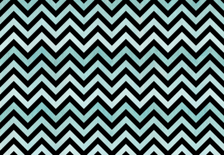 Watercolor blue stripes pattern on black background, chevron. Blue gradient pattern Stock Photo