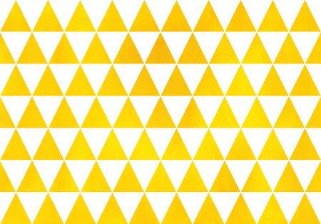Watercolor yellow triangle pattern. Watercolor geometric pattern.