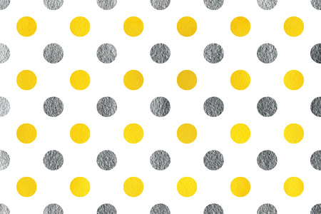 traditional silver wallpaper: Watercolor yellow and acryl silver polka dot background. Pattern with polka dots for scrapbooks, wedding, party or baby shower invitations.