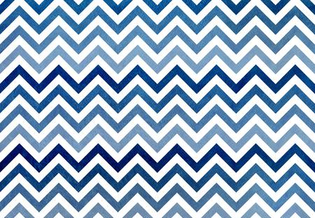 Watercolor dark blue stripes background, chevron. Blue gradient pattern