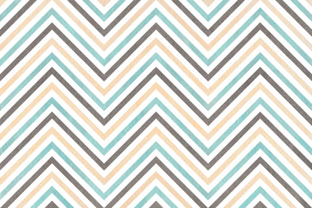 Watercolor blue, beige and gray stripes background, chevron. Watercolor geometric pattern
