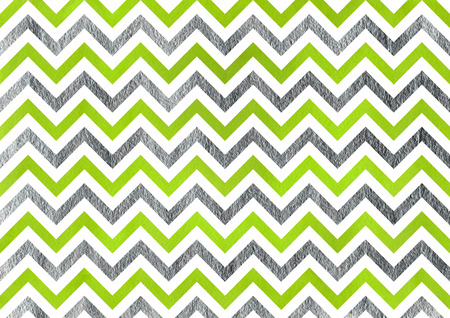 lime green: Watercolor lime green and acryl silver stripes background, chevron.