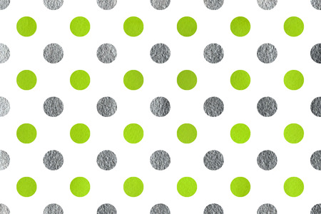 lime green: Watercolor lime green and acryl silver polka dot background. Pattern with polka dots for scrapbooks, wedding, party or baby shower invitations.