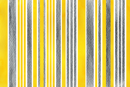acryl: Watercolor yellow and acryl silver striped background.