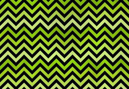 Watercolor lime green stripes on black background, chevron. Green gradient pattern Stock Photo