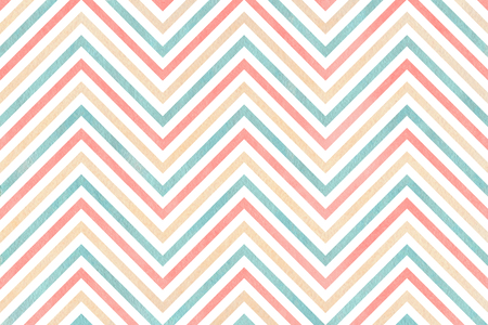 patterns and colors: Watercolor pink, beige and blue stripes background, chevron. Watercolor geometric pattern