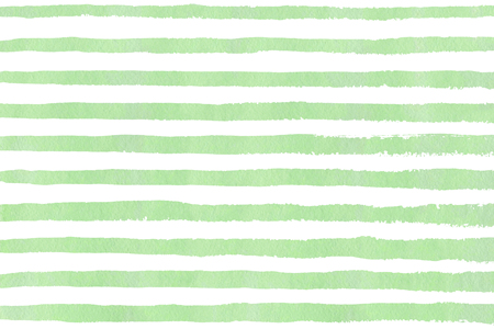 Watercolor mint green brush strokes on white background. Hand drawn grunge stripes pattern for fabric print, textile design, fashion. Stock Photo