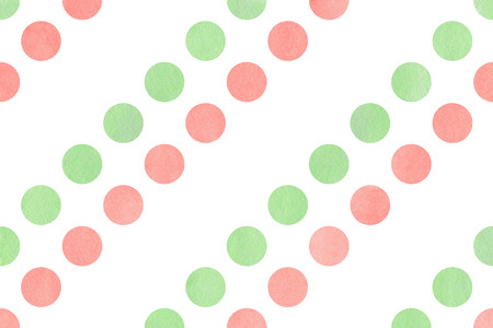 polkadot: Watercolor light pink and mint green polka dot background. Pattern with colorful polka dots for scrapbooks, wedding, party or baby shower invitations.