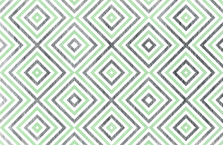 acryl: Watercolor geometrical pattern in mint and acryl silver color. For fashion textile, cloth, backgrounds.
