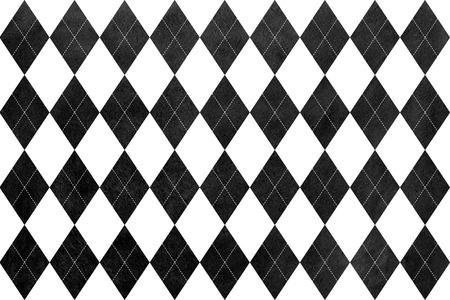 diamante negro: Acuarela patrón de diamante negro. ornamento tradicional geométrica de moda textil, tela, fondos. Foto de archivo