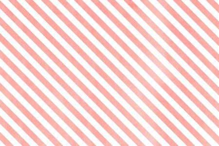 Watercolor light pink striped background. Watercolor geometric pattern. Stock Photo