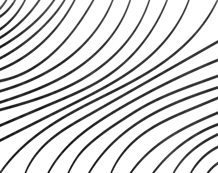 curved line: Watercolor black striped background. Curved line pattern.