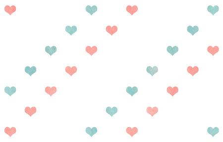 corazones azules: corazones azules sobre fondo blanco patrón de luz de color rosa y la acuarela.