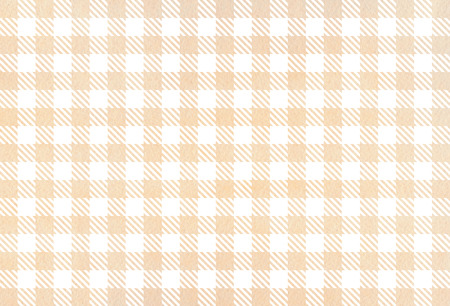 buff: Watercolor beige checked pattern. Geometrical traditional ornament for fashion textile, cloth, backgrounds.