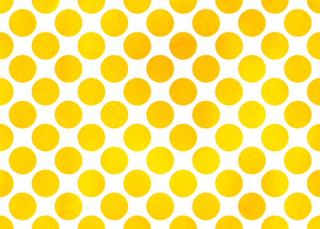 polkadot: Watercolor yellow polka dot background. Pattern with colorful polka dots for scrapbooks, wedding, party or baby shower invitations.
