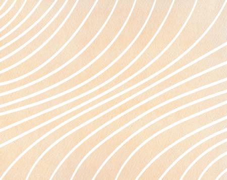 Watercolor beige striped background. Curved line pattern. Standard-Bild