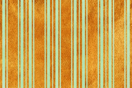 acryl: Watercolor mint green and acryl golden striped background.