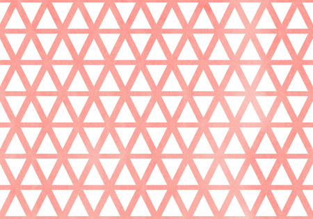 Watercolor light pink triangle pattern. Watercolor geometric pattern.