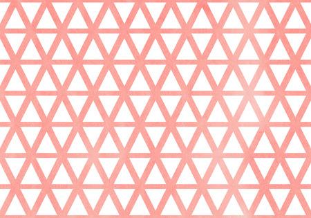 Watercolor light pink triangle pattern. Watercolor geometric pattern.