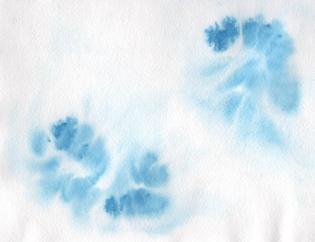 Abstract watercolor hand painted background. Blue watercolor staines.