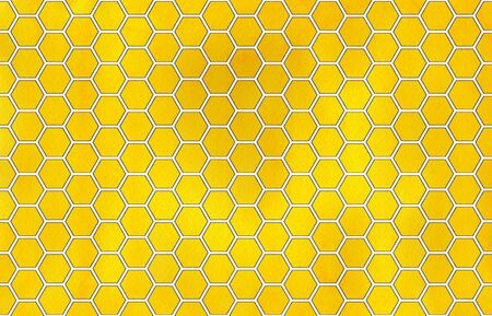 honey comb: Watercolor yellow and gray geometrical honey comb pattern.