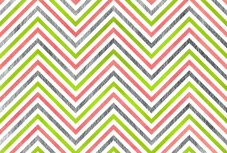Watercolor lime geen, pink and acryl silver stripes background, chevron.