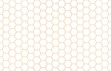 Watercolor Beige Geometrical Comb Pattern Hexagonal Grid Design