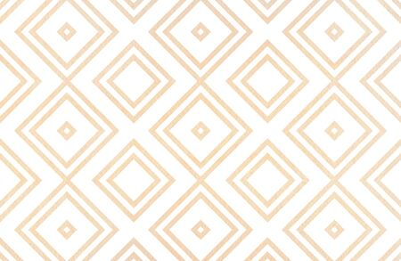 Watercolor geometrical pattern in beige color. For fashion textile, cloth, backgrounds.