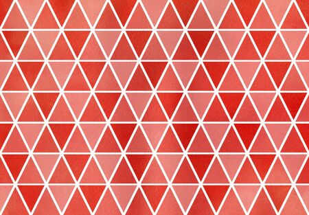 ruddy: Watercolor red triangle pattern. Watercolor geometric pattern.