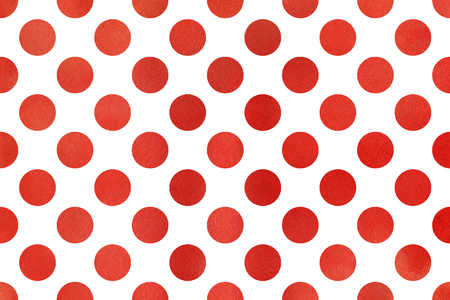 polkadot: Watercolor red polka dot background. Pattern with color polka dots for scrapbooks, wedding, party or baby shower invitations.
