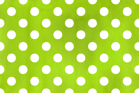 Watercolor lime green polka dot background. Pattern with dots for scrapbooks, wedding, party or baby shower invitations.