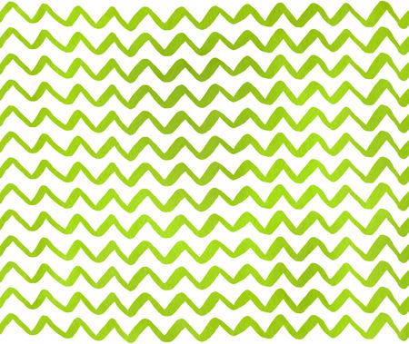수채화 라임 녹색 손으로 줄무늬 패턴, 쉐도 잉을 그린. 스톡 콘텐츠