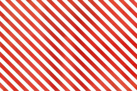 ruddy: Watercolor red striped background. Watercolor geometric pattern.