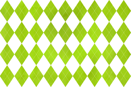 Watercolor lime green diamond pattern. Geometrical traditional ornament for fashion textile, cloth, backgrounds.