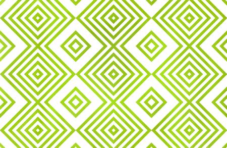 라임 그린 컬러로 수채화 기하학적 패턴. 패션 섬유, 옷감, 배경.