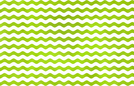 Watercolor lime green wavy striped pattern. Watercolor geometric pattern.