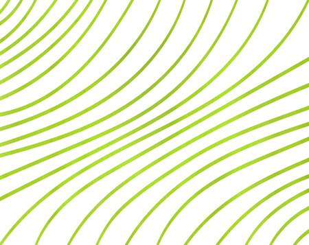Watercolor lime green striped background. Curved line pattern.