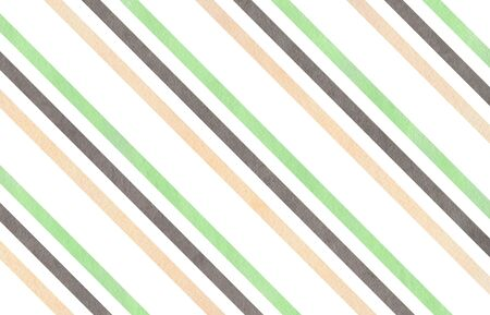 diagonal stripes: Watercolor mint, gray and beige striped background.