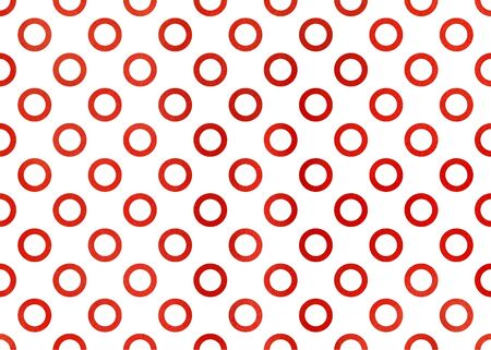 ruddy: Watercolor red circles on white background. Watercolor geometric pattern.